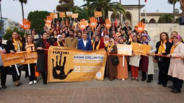 AK Parti'li kadınlar, kadına şiddete 'dur' dedi