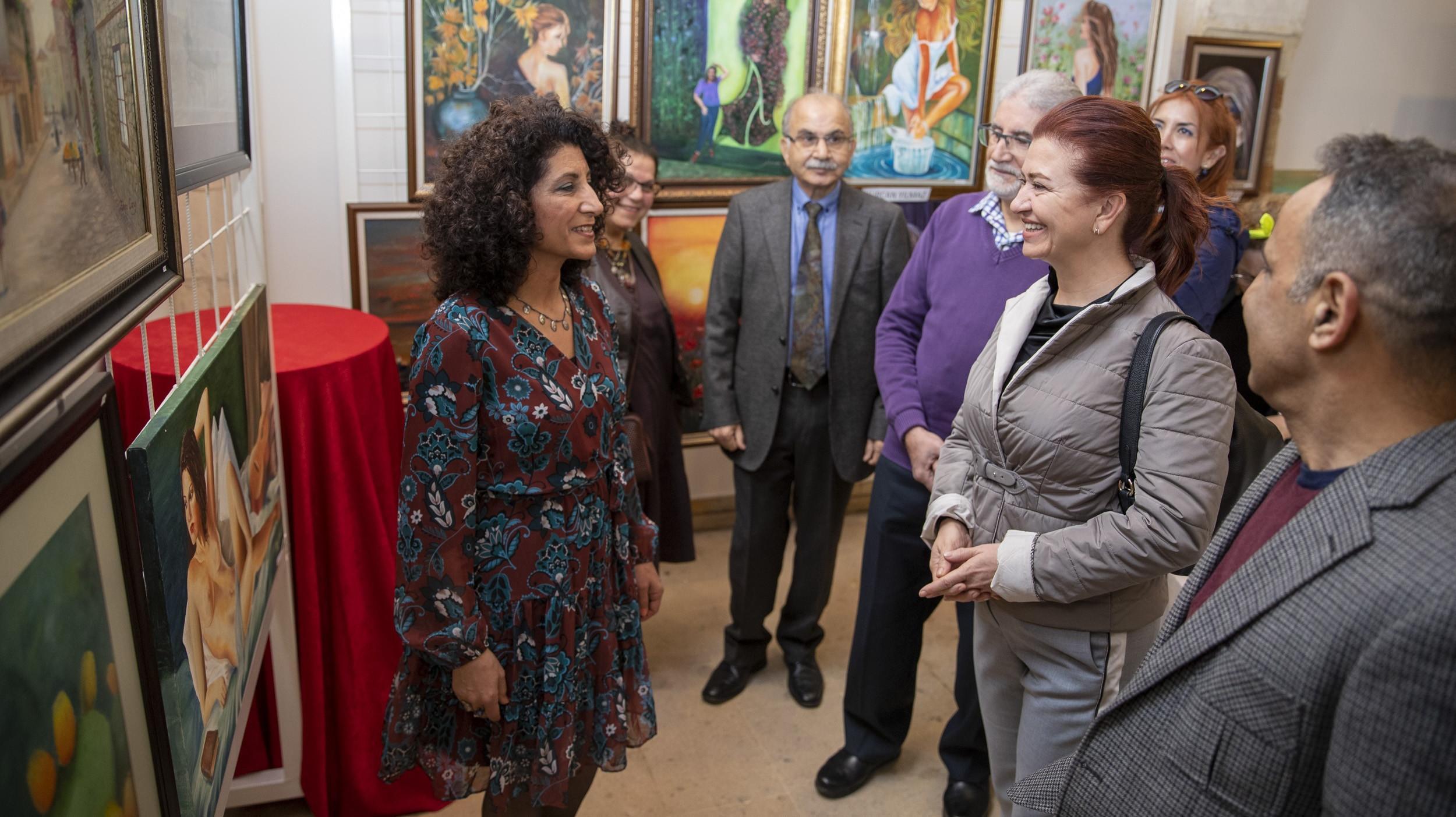 'Çukurova'nın Kadınları Karma Resim Sergisi' açıldı