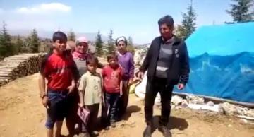 Gülnarlı yörük aile dağda 23 Nisan'ı kutladı