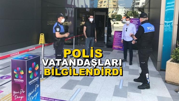 AVM'ye giden vatandaşlar bilgilendirildi
