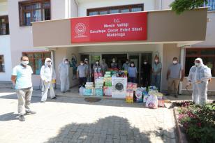 Belediye çalışanlarından çocuk evlerine destek