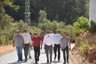 Başkan Kılınç, yol çalışmalarını inceledi