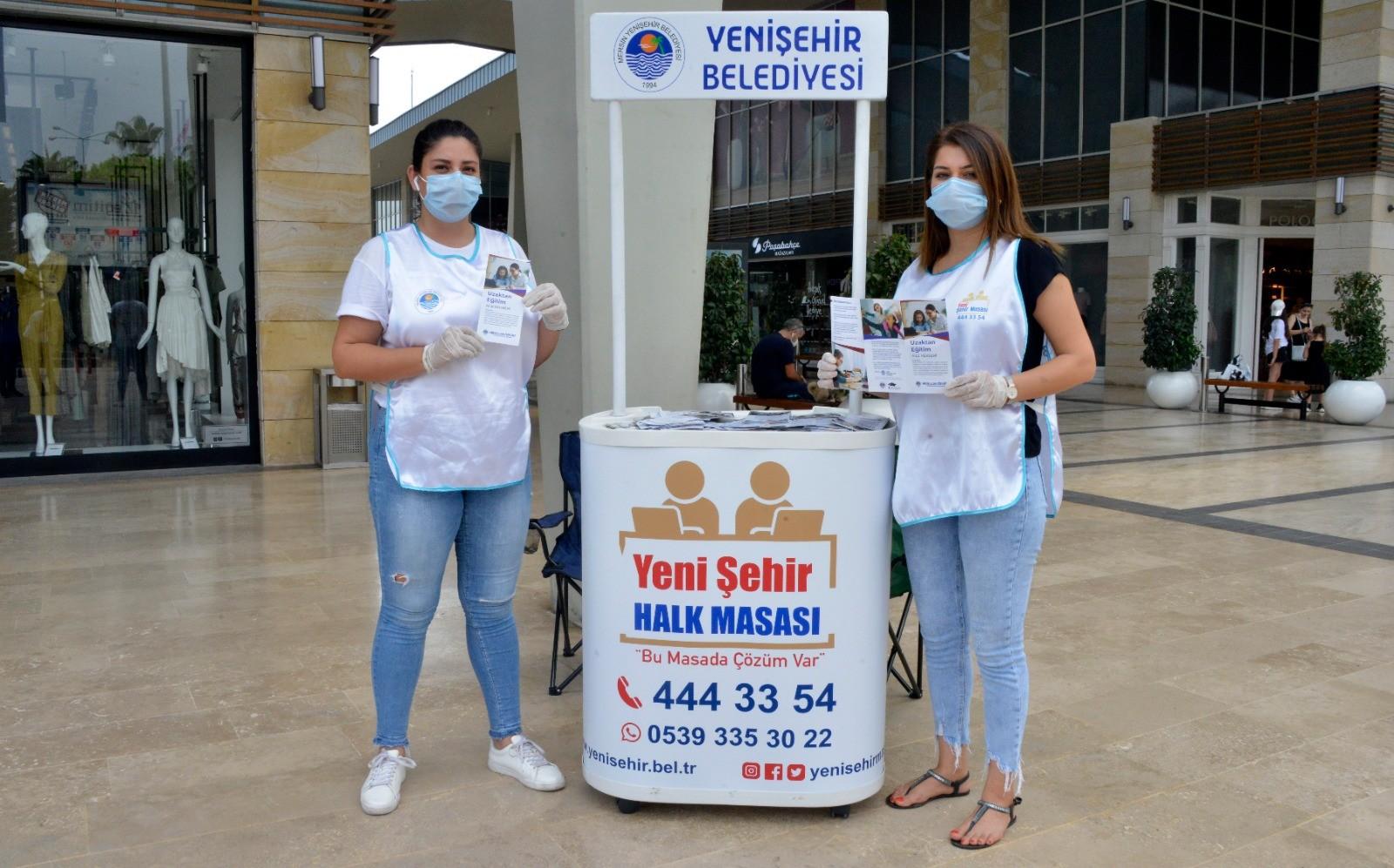 Yenişehir Belediyesi, aileleri uzaktan eğitime hazırlıyor