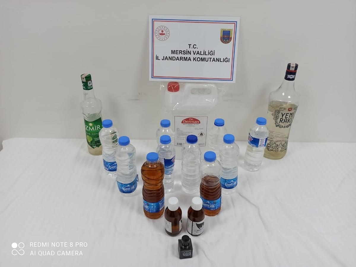 Silifke'de 7 litre sahte içki ele geçirildi