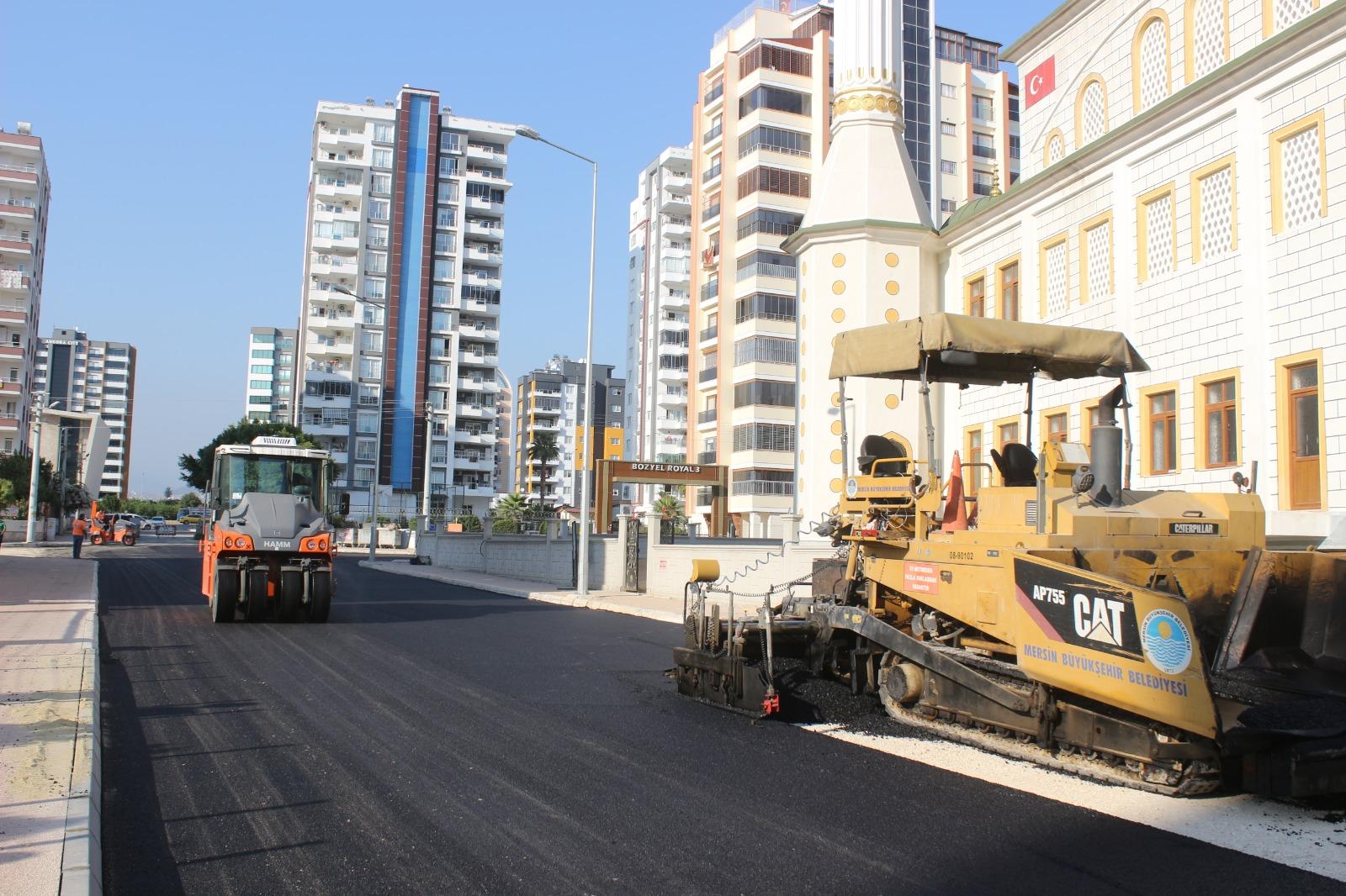 Büyükşehir, asfalt çalışmalarını yoğunlaştırdı