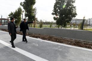 Yenişehir'de yürüyüş ve bisiklet yolu çalışmaları sürüyor