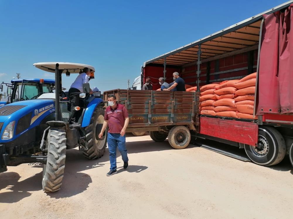 Silifke'de çeltik üreticisine tohum desteği