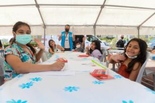 Mersin'de çocuklar resimlerle pandemiyi anlattılar